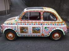 Fiat 500(Decorata Stile siciliano)