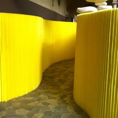 From Designersblock - It might be something to do with my current obsession with yellow, but I loved SoftWall by Molo.