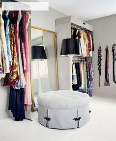 Walk In Closet - Design photos, ideas and inspiration. Amazing gallery of interior design and decorating ideas of Walk In Closet in closets by elite interior designers. Custom Walk In Closets, Walk In Closet Design, Dream Closets, Closet Designs, Open Closets, Dressing Room Closet, Dressing Area, Wardrobe Closet, Closet Bedroom