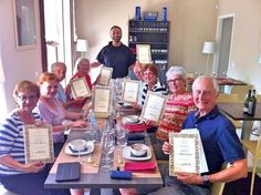 Lunch with the Chef Raffaele De Rosa and certificate for our Canadian Friends after the Cooking Class yesterday