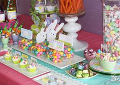 Easter Egg Decorating Party or Egg Hunt Candy Table