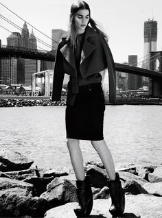 water.    Irina Nikolaeva Dons Bold Cuts for Elle Mexico October 2012 by Kevin Sinclair