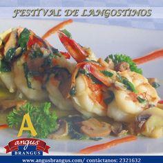 Hoy en Angus Brangus disfruta de unos deliciosos Langostinos Popeye, con champiñones y espinaca, salteados en aceite de oliva. #RestaurantesMedellín #RecomendadosMedellín #Medellín #FestivaldeLangostinos #VíaPalmas #AngusBrangus