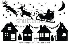 Santa Claus Silhouette - Vector - 41816254 : Shutterstock