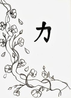 Cherry Blossom Line Drawing