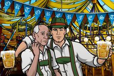 Woodhouse and Archer welcome you to Oktoberfest! Prost!!