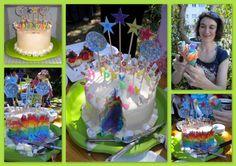 Rainbow Icecream cake
