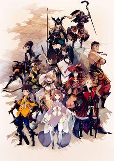 Mobile Action RPG Samurai Rising announced for Japan – Nova CrystallisNova Cryst … - Mobile Info Character Design References, Game Character, Character Concept, Concept Art, Final Fantasy Artwork, Final Fantasy Xiv, Samurai, Hyung Tae Kim, Mobiles