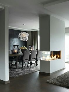 Complete division of #fire within the walls of #luxury #FireplaceCollection