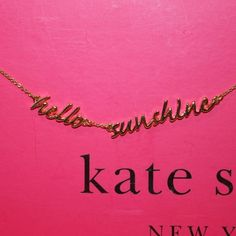 "NWT Kate Spade Necklace Adorable!!  Sold out in stores and online!  New with tags and comes with Kate Spade dustbag. Gold plated. Lobster claw closure. Measures 16"" long.  No trades. Price is firm. kate spade Jewelry Necklaces"