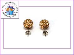 10mm Shamballa Czech Crystal Disco Clay Ball Stud Earrings.  £3 plus postage.