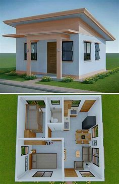 Sims House Plans, House Layout Plans, Small House Plans, House Layouts, Tiny House Layout, Modern House Plans, Sims House Design, Small House Design, 2 Bedroom House Design