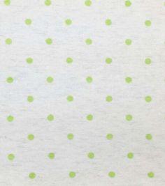 Snuggle Flannel Fabric Light Green Dot