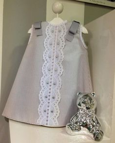 Inspiration for the Oliver + S Building Block Dress book. Toddler Dress, Toddler Outfits, Baby Dress, Kids Outfits, Little Dresses, Little Girl Dresses, Cute Dresses, Baby Girl Fashion, Kids Fashion