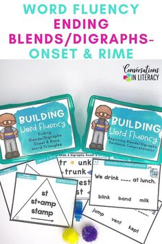 Ending Blends and Digraphs Activities for a great worksheet alternative! These phonics games are for teaching your students to decode words into onset and rimes during guided reading small group time, reading interventions, or literacy centers for first grade, second grade and third grade. #phonics #decoding #guidedreading #readinginterventions #literacycenters #fluency #conversationsinliteracy #classroom #elementary