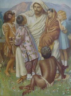 Kinderen van één Vader..............   Gekregen op de kleuterschool (begin jaren 60).