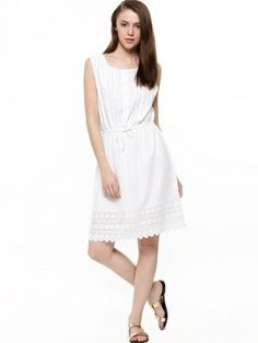 7d716d89dd8 Buy Noble Faith White Button Down Dress for Girls Online in India
