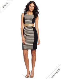 Calvin Klein Women's Striped Sheath Dress