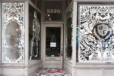 Yelena Bryksenkova hand cut window display