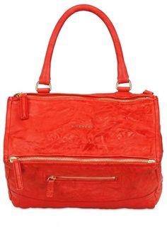 5ce7ec5380f8 givenchy Medium Pandora Washed Leather Bag - Lyst Cheap Purses