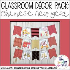 Do you have a space on your classroom wall or door where you need that perfect piece of seasonal or holiday decor? Look no further! This Chinese New Year Banner Pack has got you covered. Its fun and fresh design will bring the perfect celebratory touch to your