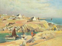 """Émile Simon 1890-1976 """" Crique de la Baie d' Audierne """""""