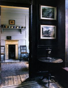 I love how this space reminds me of how certain people lived in the 18th and 19th century.