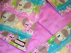 """Elephant Pink Baby Cotton Quilt -34"""" X 40"""". $39.50, via Etsy."""
