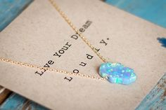 This beautiful blue hamsa necklace by The Neshama Project