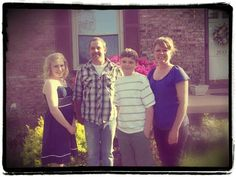 My daughter and her new husband, with my G~children on Easter 2012...My sweet family!