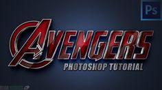 Avengers Text Style  — Photoshop Tutorial