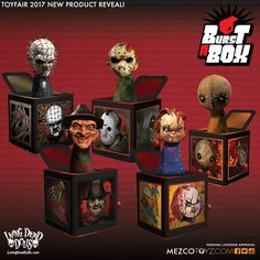 HORROR themed Jack in the Boxes by Living Dead Dolls announced for the toy fair 2017