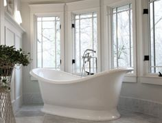 After seeing this tub on Houzz.com, I searched every single kitchen & Bath store until I found this! (by Victoria & Albert)
