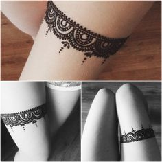 Henna tattoos on thigh looks stunning and beautiful. If you don't believe us, then have a look at these thigh henna designs and it will change your mind. Mehndi Tattoo, Henna Ink, Cool Henna, Simple Henna, Easy Mehndi, Mehendi, Leg Tattoos, Arm Tattoo, Body Art Tattoos