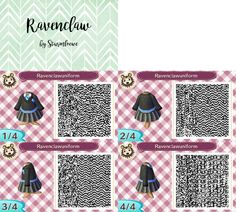 animal crossing new leaf qr code harry potter ravenclaw uniform dress black and blue outfit for acnl design by sturmloewe