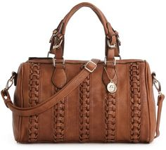 Big Buddha JTOLEDA Woven Satchel at DSW - Brown - Polyvore