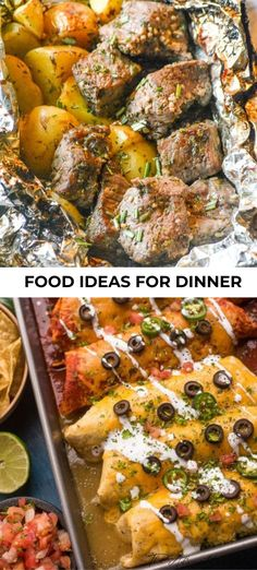 These tasty food ideas for dinner are not only healthy but most of them can be done with little to no prep time needed! Weeknights are the busiest time of day in our house and who can be bothered to spend hours over a hot stove after a long day at work? That's why we try to stick with recipes we know our family will love and don't take forever to make. #weeknights #meals #dinner #foodideas #weeknightdinner #familydinners