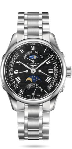 1eed59a141f The Longines Master Collection Automatic with Moon Phase Men s Watch