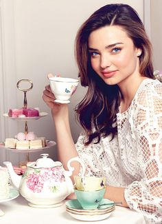 Miranda follows a balanced diet, but treats herself to chia seed muffins when she wants to indulge and complements her diet with a serious fitness regime