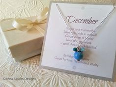 December Birthstone Confetti Necklace | Perfect personalized gift for the Holidays, Birthday, New Baby | Handmade glass beads | all months available for holiday shipping!