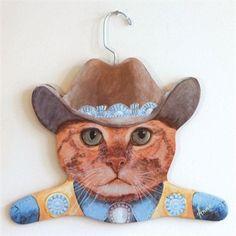 You need this Pigeonhole Animal Hanger Cowboy Clint - Pigeonhole