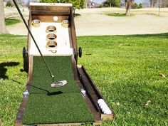 Great your own backyard games. This golf game is one for the both the adults and the kids.