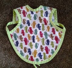 Waterproof Bapron/The Baby Apron - 6-18 months with Classic Cars by GrandmaSewsBest on Etsy