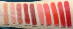 Estee Lauder Pure Color Envy Sculpting Lipsticks Full Swatches