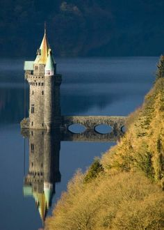 Lake Vyrnwy, The Gothic revival straining tower by A . LS4 on flickr