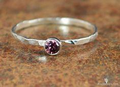 Dainty Silver Alexandrite Ring