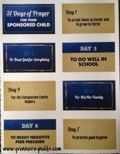 31 Days of Prayer for your Compassion sponsored child - my husband designed these printable prayer cards for families to use as they pray for their sponsored children each day through each month #compassion #printable #prayer