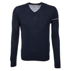 Moncler Pullover in Marine Moncler, Pullover, Sweaters, Men, Shopping, Fashion, Cotton, Moda, Fashion Styles