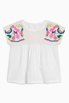 Buy White Embroidered Blouse (3mths-6yrs) from the Next UK online shop
