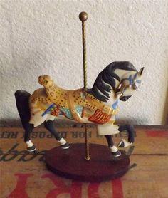 Carousel Horse Leopard Saddle Franklin Mint
